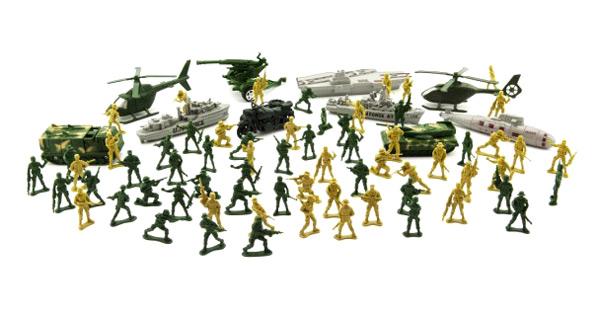 Sada vojáků TEDDIES ARMY II CZ design s příslušenstvím 24x30cm