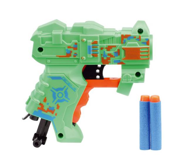 Dětská pistole TEDDIES na pěnové náboje 11 cm 2ks