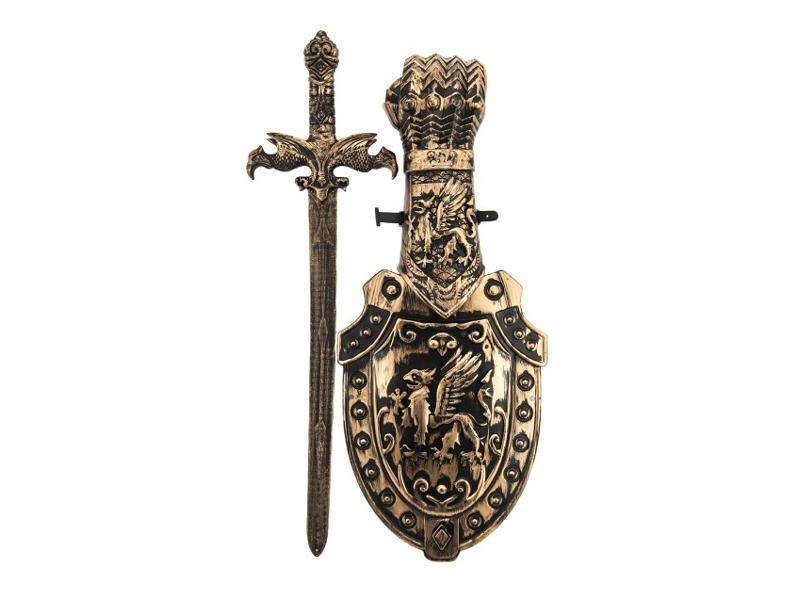 Dětský rytířský meč se štítem TEDDIES 48 cm