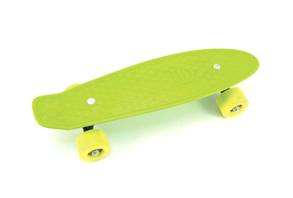 Dětský skateboard TEDDIES GREEN