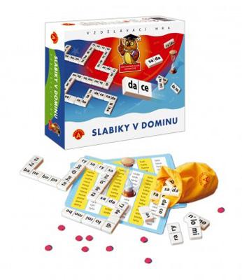 Hra vzdělávací PEXI Slabiky v dominu