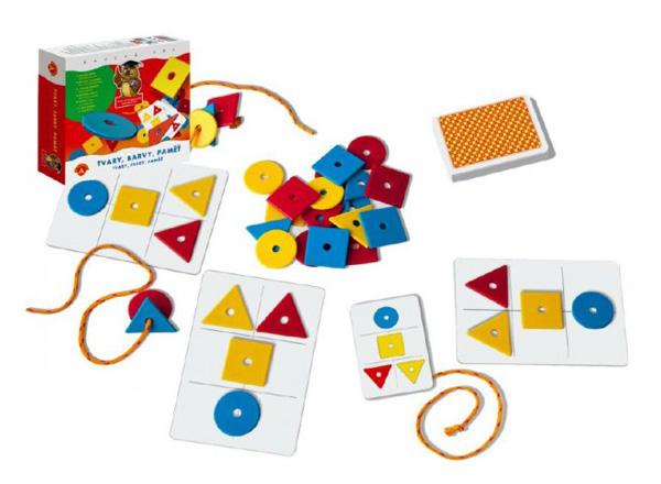 Hra vzdělávací PEXI Tvary, barvy, paměť
