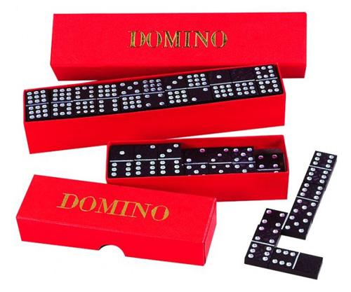 Dětské domino DETOA dřevěné 55ks