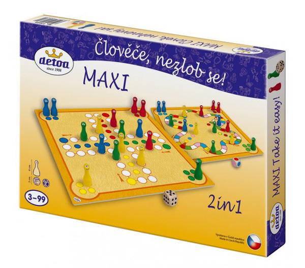 Hra stolní DETOA Maxi Člověče, nezlob se!