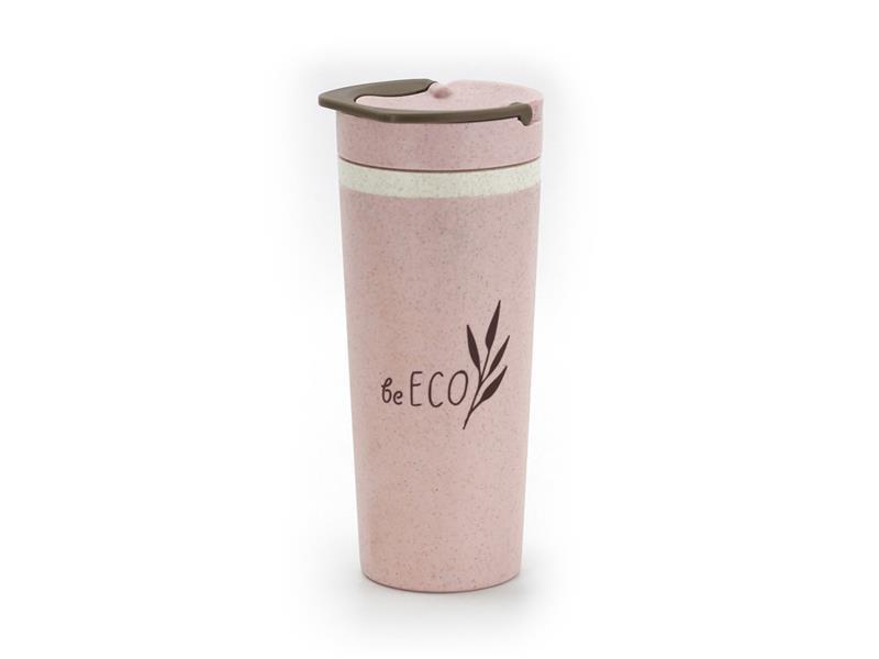 Termohrnek G21 beECO Americano 450ml růžový