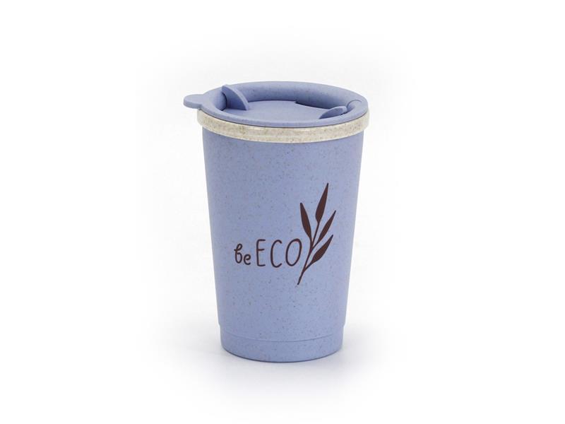 Kelímek s víčkem G21 beECO Espresso 280ml modrý