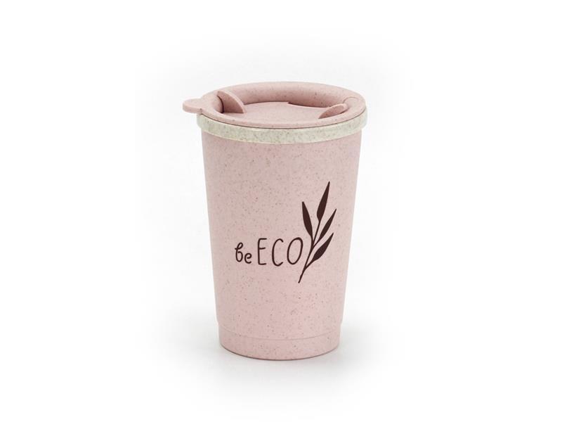 Kelímek s víčkem G21 beECO Espresso 280ml růžový