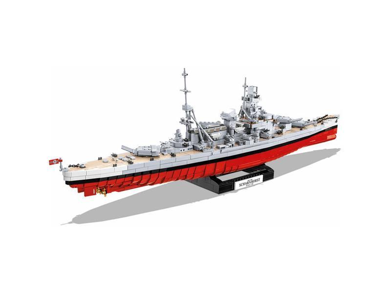 Stavebnice COBI 4818 II WW Bitevník Scharnhorst, 1:300, 2472 k