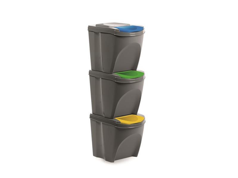 Sada odpadkových košů ORION 3x21l šedá