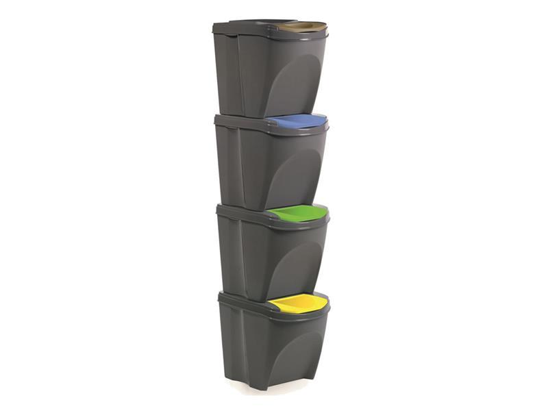 Sada odpadkových košů ORION 4x20l šedá