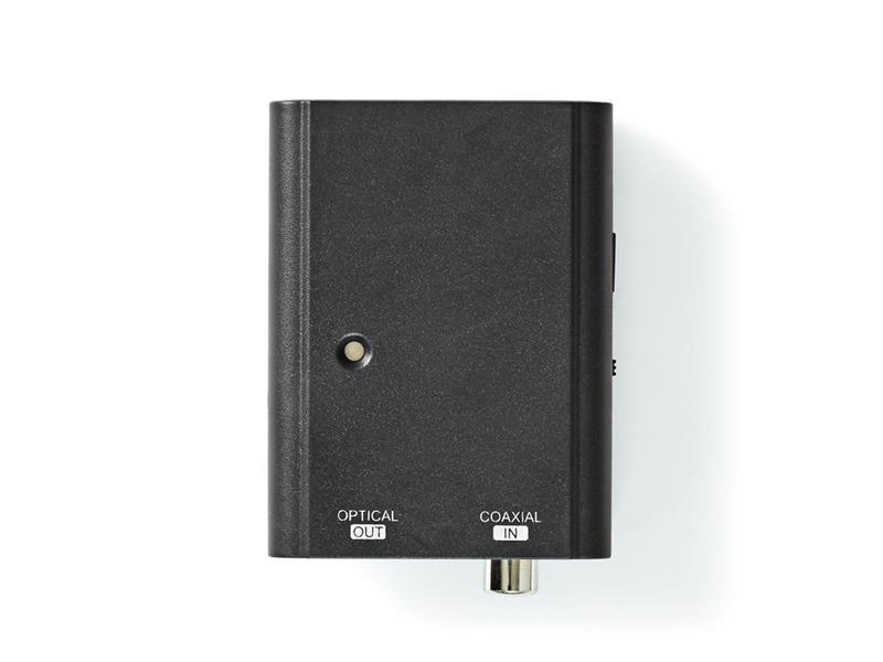 Převodník 1x TOSLINK - 1x CINCH NEDIS ACON2505BK