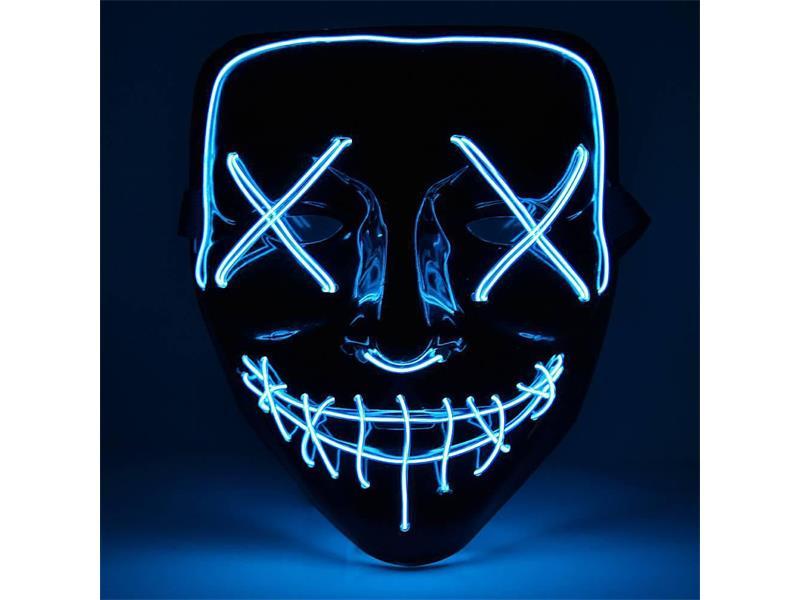 Maska svítící 4L modrá