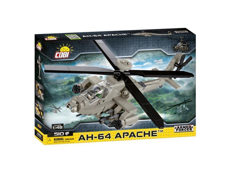 Stavebnice COBI 5808 Armed Forces AH-64 Apache, 1:48, 510 k