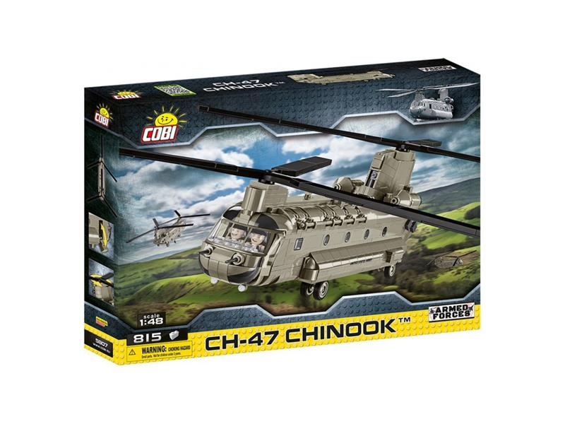 Stavebnice COBI 5807 Armed Forces CH-47 Chinook, 1:48, 815 k