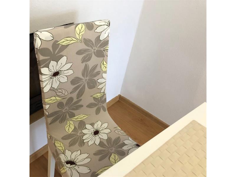 Potah na židli 4L šedý vzor
