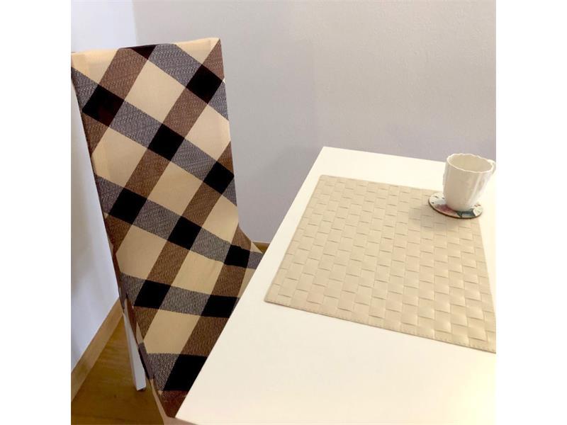 Potah na židli 4L hnědý vzor