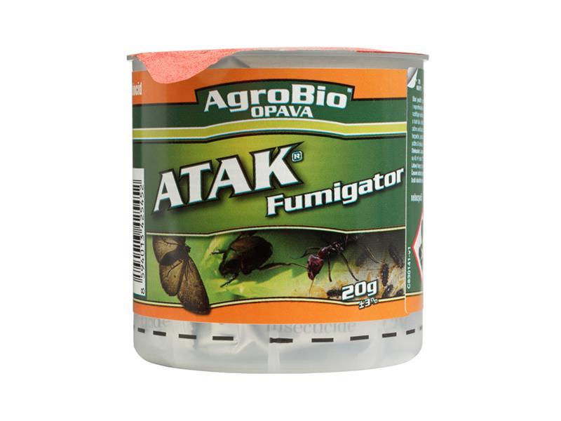 Přípravek proti hmyzu a roztočům AgroBio Atak Fumigator 20g