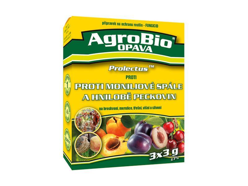 Přípravek proti moniliové spále a hnilobě peckovin AgroBio Prolectus 3x3g