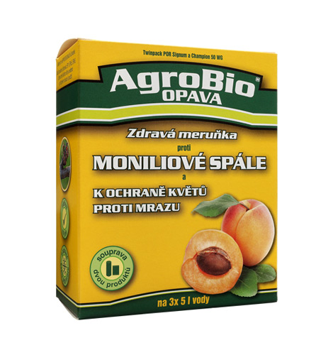 Přípravek proti moniliové spále a k ochraně květů proti mrazu AgroBio Zdravá meruňka