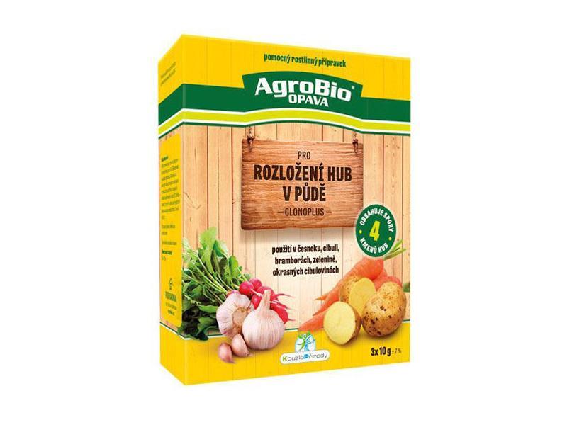 Přípravek pro rozložení hub v půdě AgroBio Clonoplus 3x10g