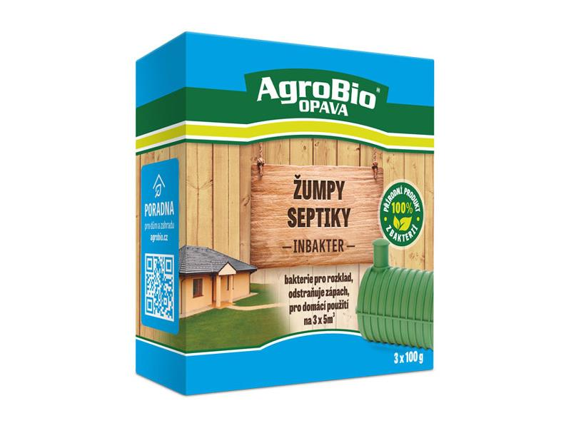 Přípravek k rozkladu organických nečistot AgroBio Inbakter Žumpy a septiky 3x100g