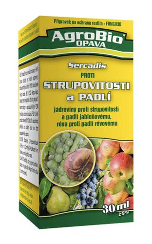 Přípravek proti strupovitosti a padlí AgroBio Sercadis 30 ml