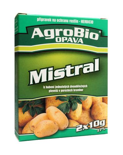 Přípravek proti plevelům v bramborách AgroBio Mistral 2x10g