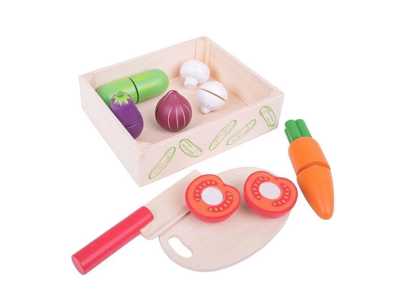 Dětská krájecí zelenina BIGJIGS TOYS dřevěná