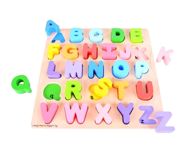 Dětská abeceda BIGJIGS TOYS dřevěná