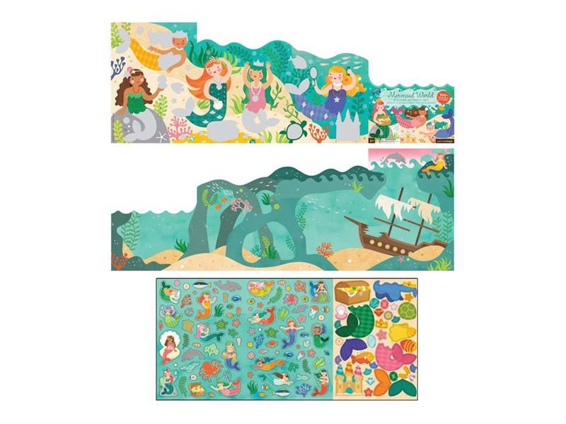 Dětské samolepky PETITCOLLAGE Svět mořské víly dřevěné