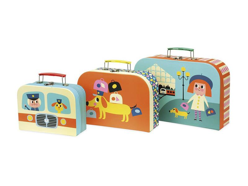 Dětský set 3 kufříků VILAC dřevěný