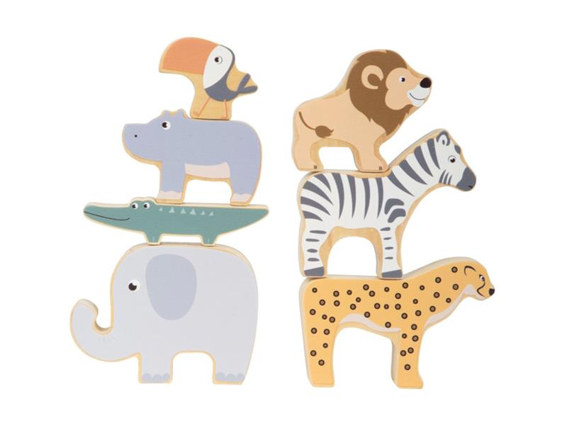 Dětská skládací zvířátka SMALL FOOT Safari dřevěná