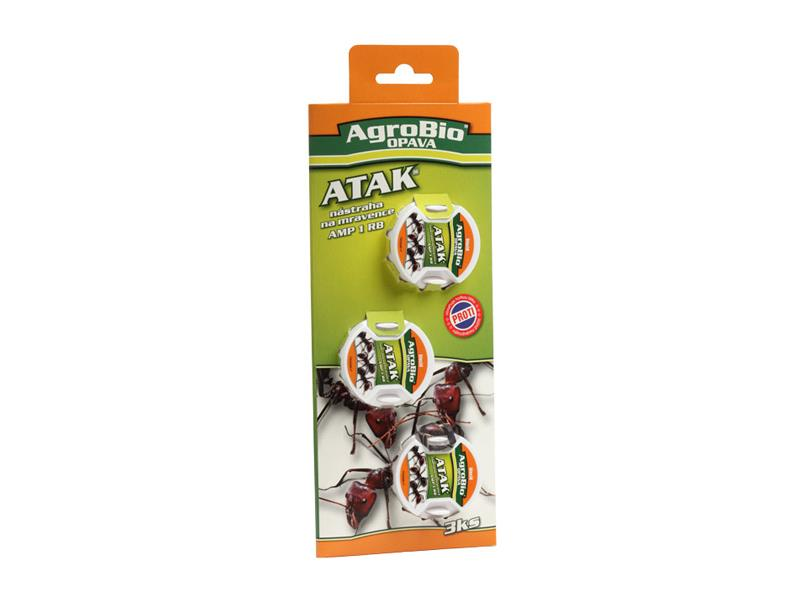 Nástraha na mravence AgroBio Atak AMP 3ks