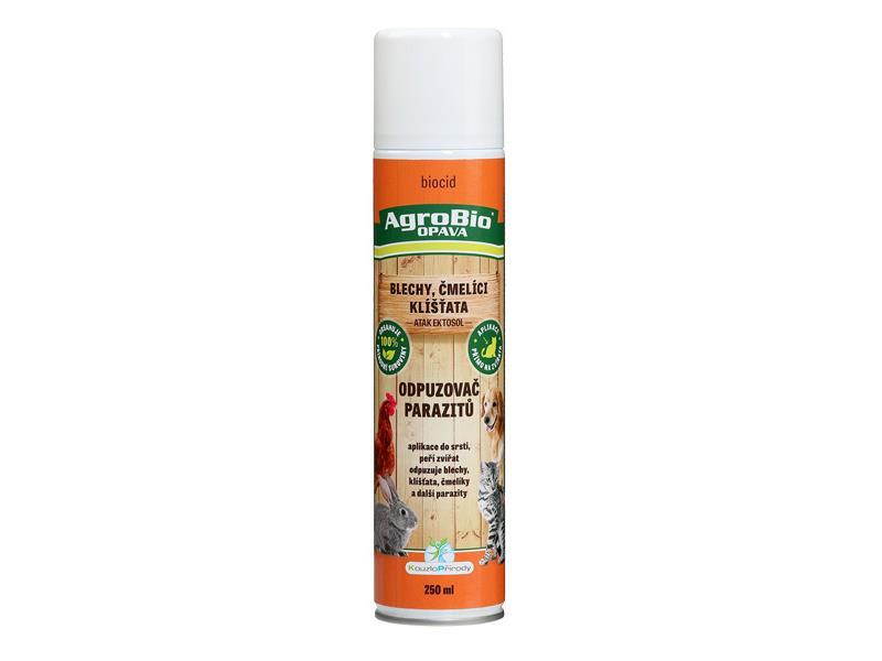 Odpuzovač parazitů (blechy, klíšťata, čmelíci) AgroBio Atak Ektosol 250 ml