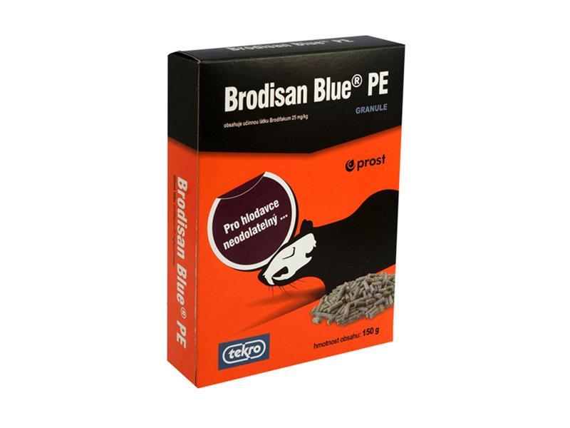 Granule proti potkanům AgroBio Brodisan Blue PE 150g