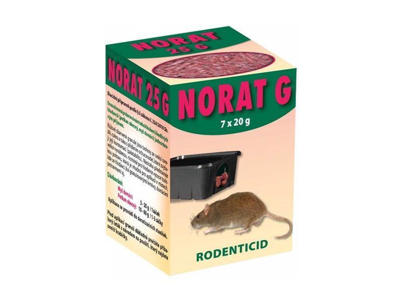Granule proti myším, krysám a potkanům AgroBio Norat G 140g