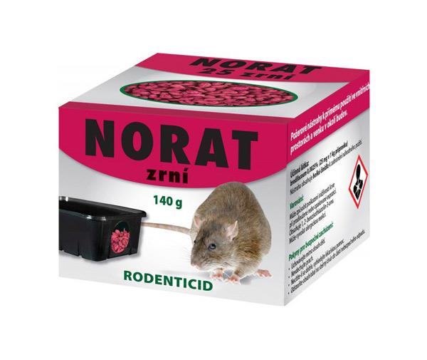 Nástraha proti myším, krysám a potkanům AgroBio Norat 140g