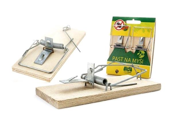 Past na myši AgroBio PM dřevěná 2ks