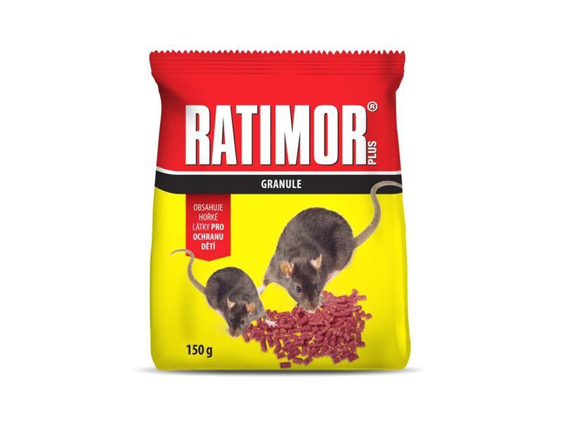Granule proti myším, krysám a potkanům AgroBio Ratimor 150g