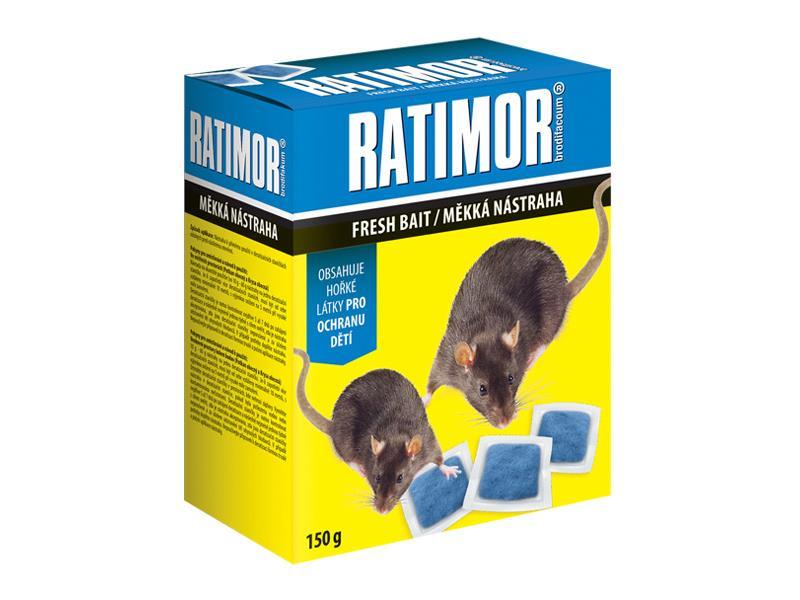 Nástraha proti myším, krysám a potkanům AgroBio Ratimor 150g