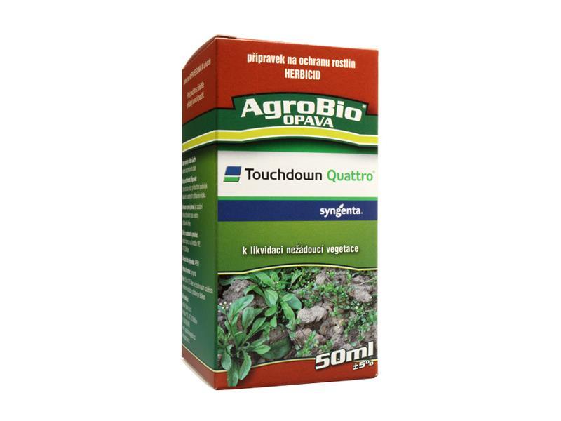 Přípravek proti jednoletým a víceletým plevelům AgroBio Touchdown Quattro 50 ml