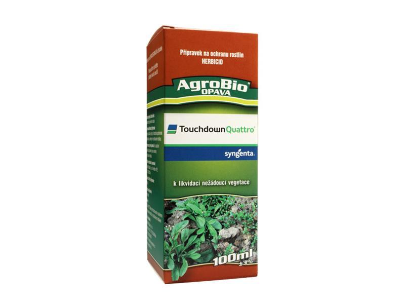 Přípravek proti jednoletým a víceletým plevelům AgroBio Touchdown Quattro 100 ml