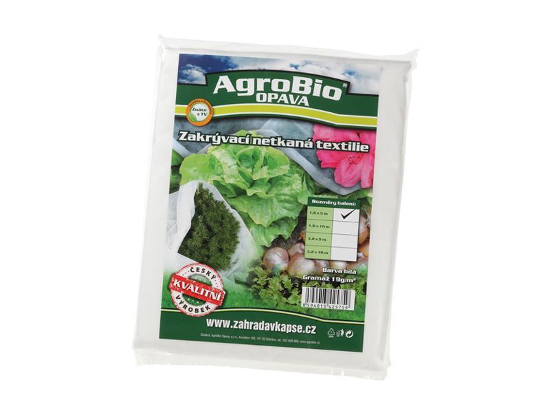 Textilie netkaná AgroBio 1.6x5m bílá
