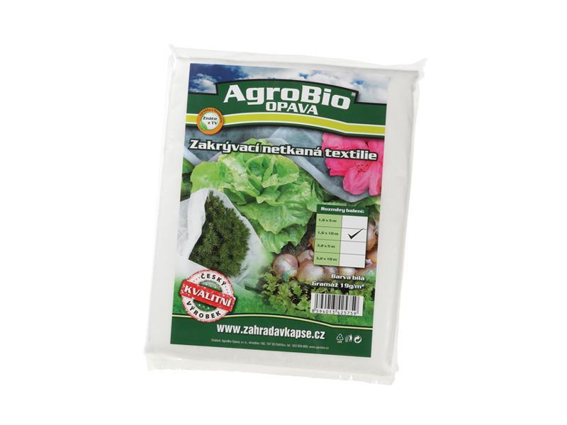 Textilie netkaná AgroBio 1.6x10m bílá