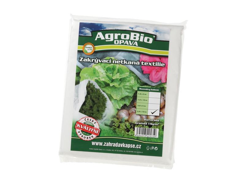 Textilie netkaná AgroBio 3.2x10m bílá