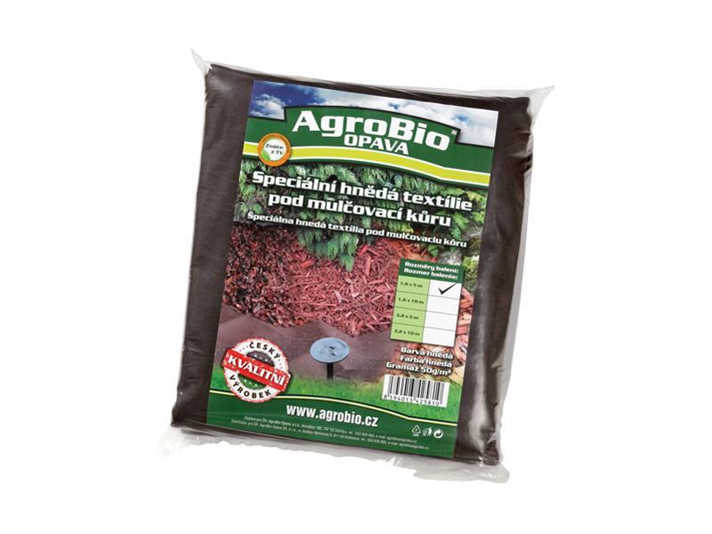 Textilie netkaná AgroBio 1.6x5m hnědá