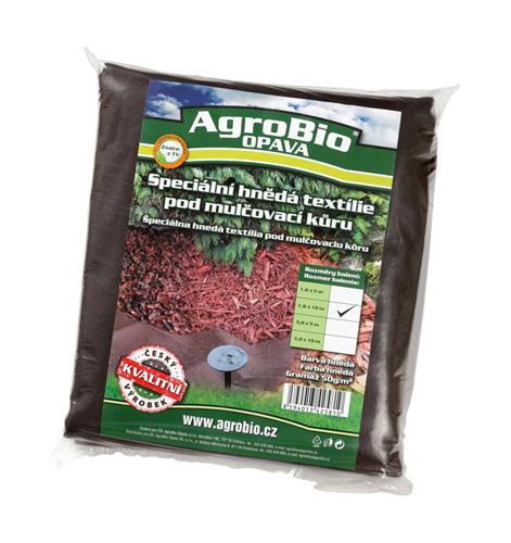 Textilie netkaná AgroBio 1.6x10m hnědá