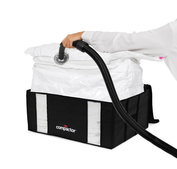Vakuový úložný box s pouzdrem COMPACTOR 3D Black Edition XXL 210L 50x65x27cm