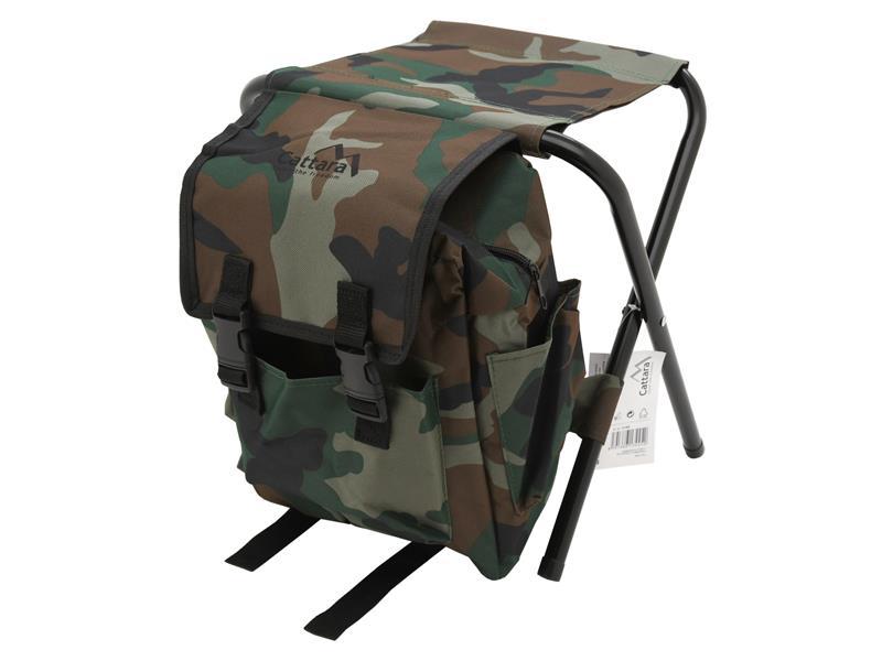 Židle kempingová CATTARA 13445 OLBIA ARMY skládací s batohem