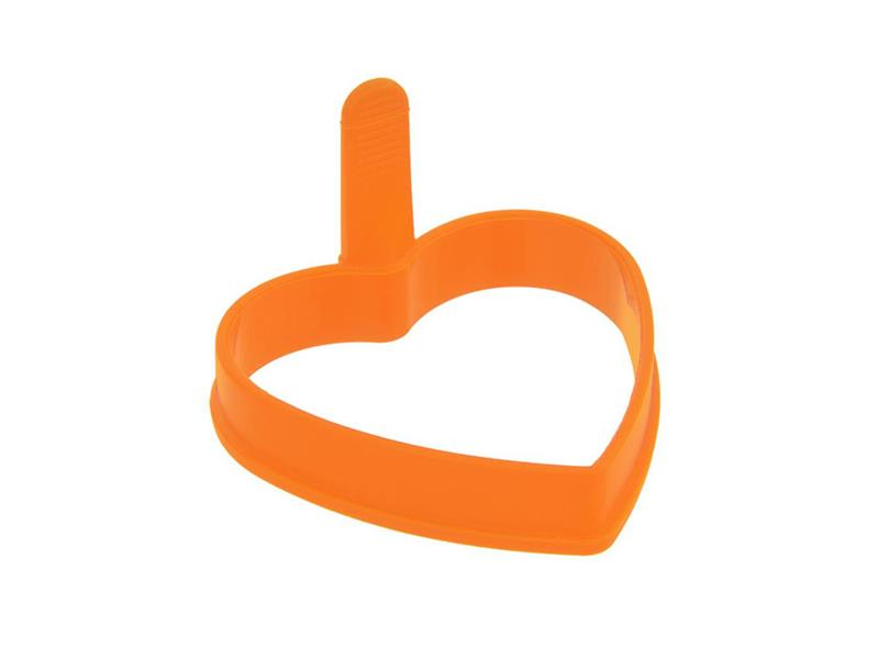 Forma na lívance/volská oka ORION Srdce silikon oranžová